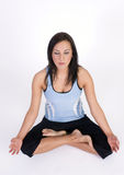 Beautiful Brunette Woman in Sitting Yoga Practice Royalty Free Stock Image