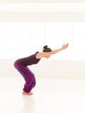 Yoga practice for beginner Stock Photography