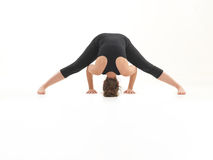 Yoga practice demonstration Stock Image