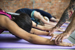 Yoga Practice Exercise Class Concept royalty free stock image