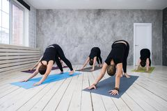 Yoga Practice Exercise Class Concept stock image