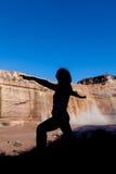 Yoga Practice at Grand Falls Royalty Free Stock Images