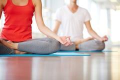 Yoga practice Stock Image