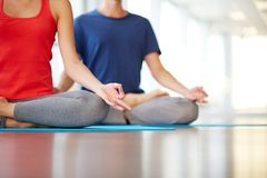 Yoga practice Stock Photography