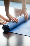 Yoga practice is over Royalty Free Stock Images