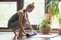 Yoga practice is over Stock Photos