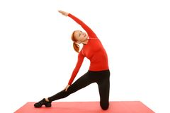 Yoga practice. Woman doing asana Royalty Free Stock Photo