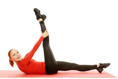 Yoga practice. Woman doing asana Stock Photography