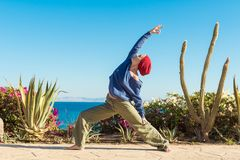 Yoga practice Stock Images