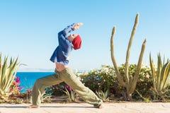 Yoga practice Stock Photo