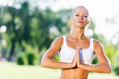 Yoga practice Royalty Free Stock Photography