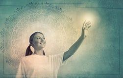 Yoga practicing Royalty Free Stock Image