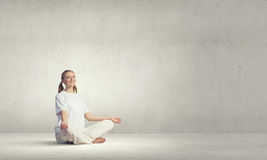 Yoga practicing Royalty Free Stock Photo