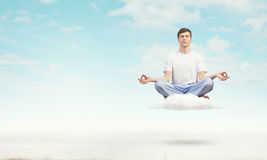 Yoga practicing Stock Photography