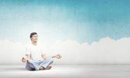 Yoga practicing Royalty Free Stock Photos