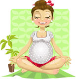 Yoga for pregnant woman stock illustration