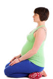 Yoga for pregnant woman Stock Photo