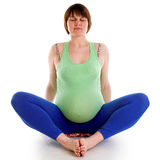 Yoga for pregnant woman Stock Image