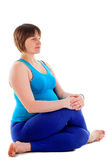Yoga for pregnant woman Royalty Free Stock Photo