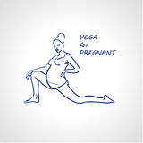 Yoga for pregnant woman. Stock Image