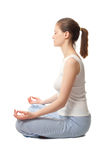 Yoga profile view Stock Photo