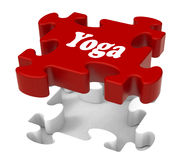 Yoga Puzzle Shows Enlightenment Meditate Royalty Free Stock Photography