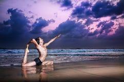 Free Yoga Raja Kapotasana Pigeon Pose Stock Photo - 24499500