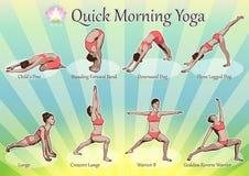 Yoga rapida di mattina illustrazione vettoriale