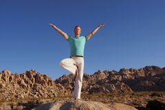 Yoga Receive stock photography