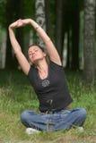 Yoga recreational exercise Royalty Free Stock Photos