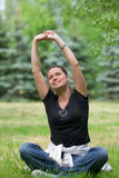 Yoga recreational exercise Stock Photos