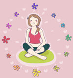 Yoga relax Royalty Free Stock Photography