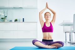 Yoga Relaxation at Home Royalty Free Stock Images