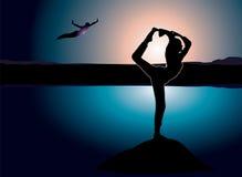 Yoga rock Stock Photography
