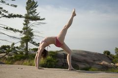 Yoga on the rocks Royalty Free Stock Photography