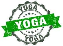 Yoga seal. Yoga round ribbon seal isolated on white background Stock Photos