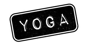 Yoga rubber stamp. Grunge design with dust scratches. Effects can be easily removed for a clean, crisp look. Color is easily changed vector illustration