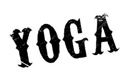 Yoga rubber stamp. Grunge design with dust scratches. Effects can be easily removed for a clean, crisp look. Color is easily changed Royalty Free Stock Image