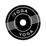 Yoga rubber stamp Stock Images