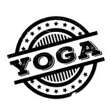 Yoga rubber stamp Royalty Free Stock Images