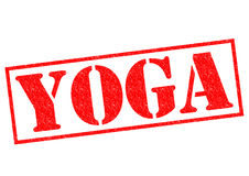 YOGA Rubber Stamp. YOGA red Rubber Stamp over a white background Stock Images