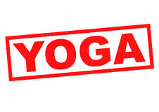 YOGA Rubber Stamp. YOGA red Rubber Stamp over a white background Royalty Free Stock Image
