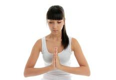 Yoga-Ruheheilen lizenzfreies stockbild