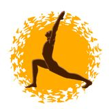 Yoga - salutation sun. Yogа - salutation sun, surya namaskar Stock Images
