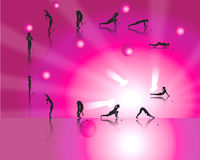 Yoga Salutations Royalty Free Stock Photo