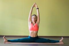 Yoga Samakonasana pose Stock Image