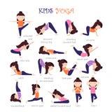Yoga scherzt Haltungen stock abbildung