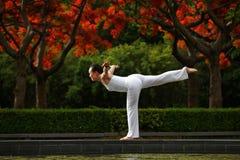 Yoga-Schwerpunkt Stockfotos