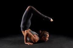 Yoga scorpion pose Royalty Free Stock Photo