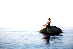 Yoga In The Sea Royalty Free Stock Photo